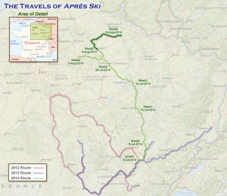 France 2014 - Week 6 route