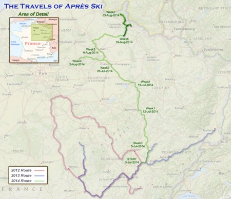 France 2014 - Week 7 route