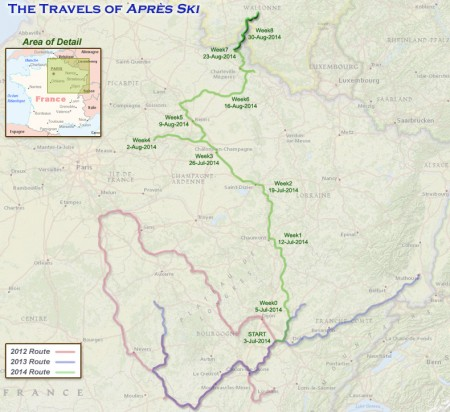 France 2014 - Week 8 Route