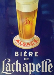 Old-style beer advertising poster