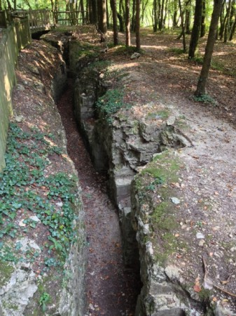 German trench line in the Apremont Forest