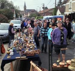 A brocante (village-wide flea market)