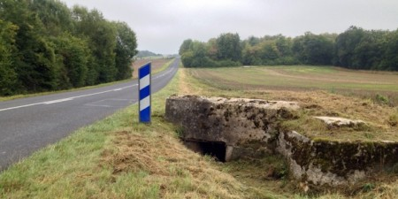 A German bunker near Ailly Forest, now ignored by a road and a farmer's field
