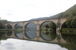 Train bridge over the Meuse