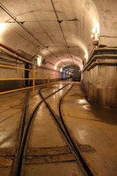 "The electric rail ""station"" deep underground at Fort Fermont"