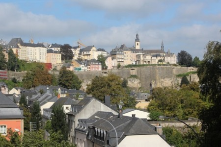 Luxembourg City occupies a fortified hilltop