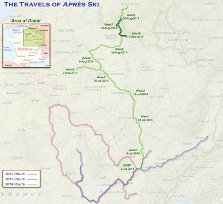 France 2014 - Week 9 Route