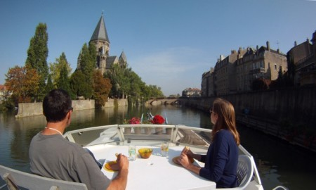 Lunch cruise through Metz