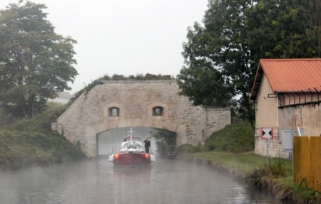 """Jori"" motoring under the Toul city walls"