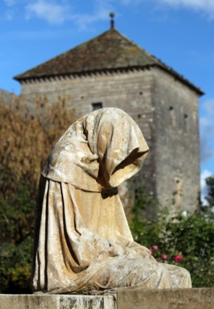 A statue in Gevrey Chambertin (or maybe Morey-St-Denis)