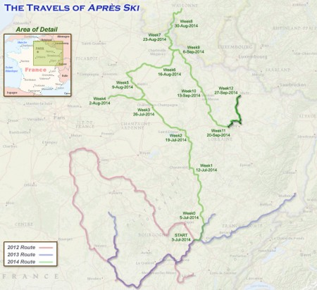 France 2014 - Week 12 Route
