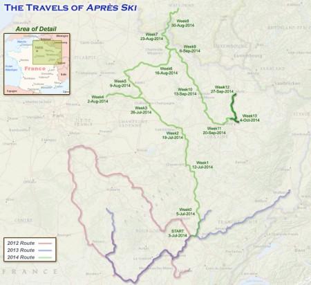 France 2014 - Week 13 Route