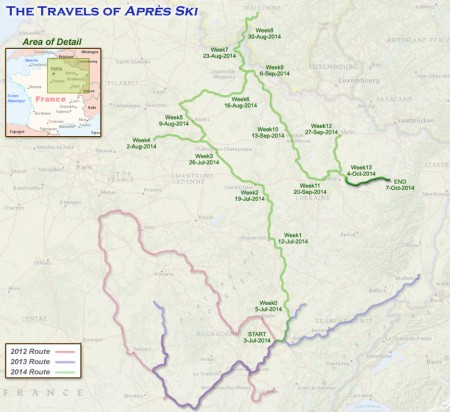 France 2014 - Week 14 Route