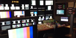 NASA control room? No, the inside of one of the three TV production trucks