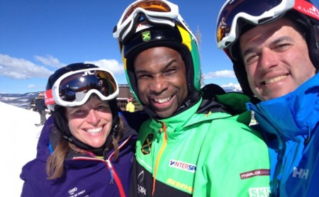 Us with the entire Jamaican Ski Team