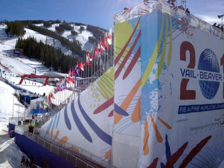 The massive finish stadium at Beaver Creek