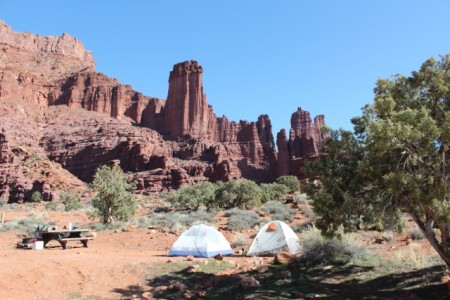 Fisher Towers, north-east of Moab
