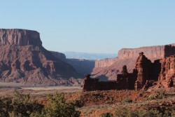 The scenery near Fisher Towers