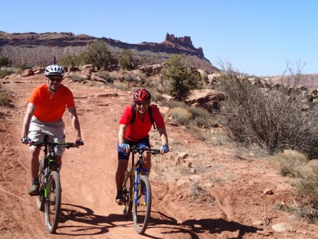 Mountain-biking in the Bar-M recreational area