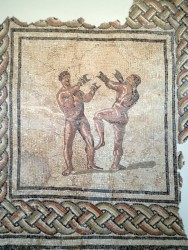 Roman mosaic illustrating the new hip-hop dance moves