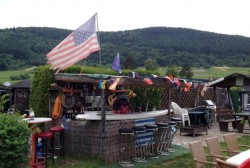 A sort of rogue American bar at a campsite