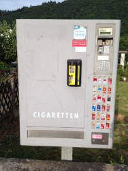 Outdoor cigarette vending machine