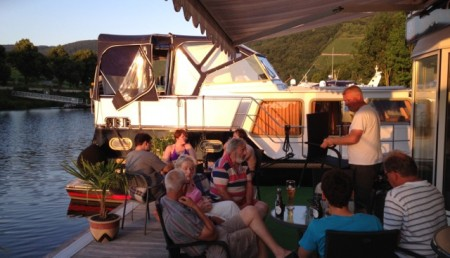Evening at the Bernkastel-Kues boat club