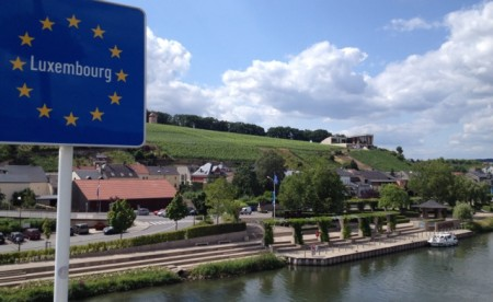 Après Ski parked in Schengen, Luxembourg