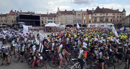 The big bicycle race/rally/gathering in Pont-a-Mousson