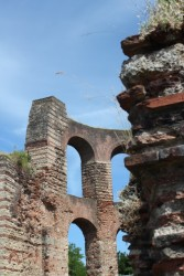 The Roman Imperial Bath ruins in Trier