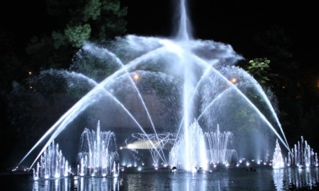 Sound and light show at the aquatic gardens