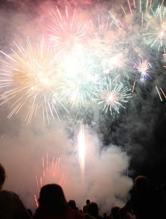 Fireworks in Montigny-lès-Metz