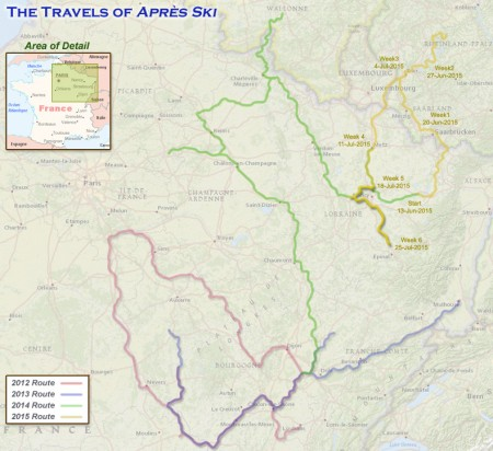 France 2015 - Week6 Route