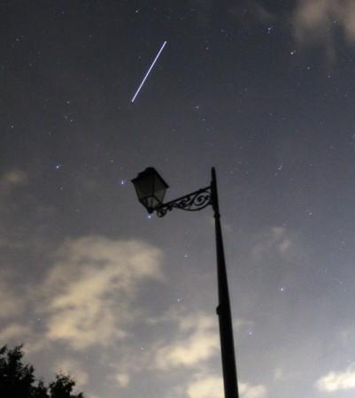 The ISS at dusk near Flavigny