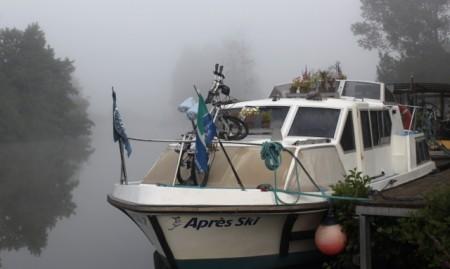 Misty morning on the Saône River
