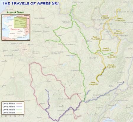 France 2015 - Week 7 Route