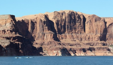 The enormous cliffs at about mile 115