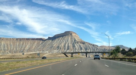 Heading east on I-70 out of Grand Junction