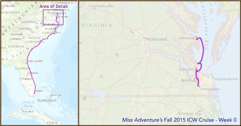 """Miss Adventure"" East Coast Cruise - Week 0"