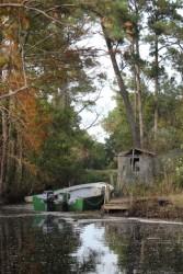A rustic fishing camp