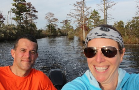 The cool side creek we explored by dinghy