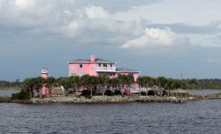 If you're gonna have a tacky house on your own island, might as well paint it pink