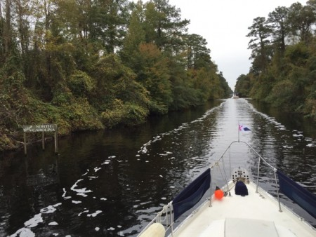 Entering North Carolina on the Dismal Swamp Canal