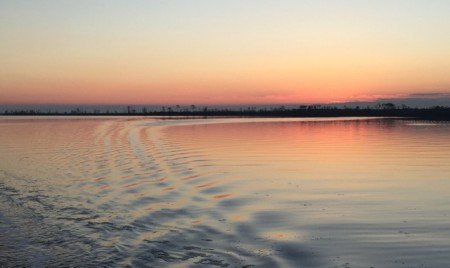 Our pre-sunrise departure from the Alligator River