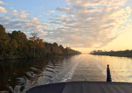 Early morning on the Alligator River Canal