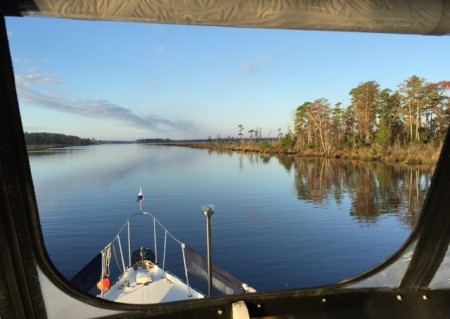 Our view from the flybridge
