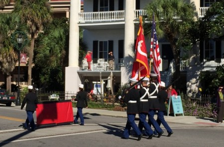 Veteran's Day parade in Beaufort, South Carolina