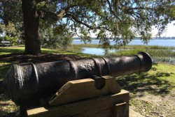 Civil War cannon in Beaufort, SC