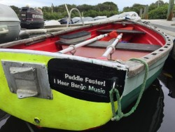 """Paddle faster, I hear banjo music"""