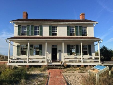 The restored lighthouse keeper's house